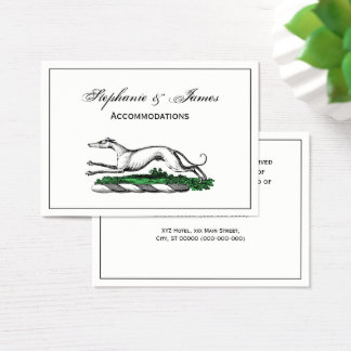 Greyhound Whippet Running Heraldic Crest Emblem Business Card