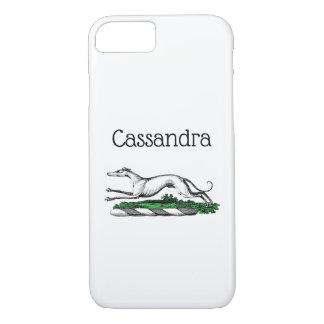 Greyhound Whippet Running Heraldic Crest Emblem iPhone 8/7 Case