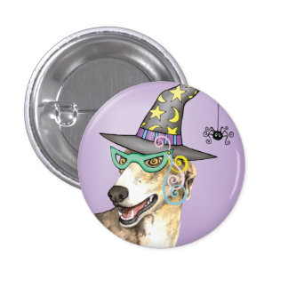 Greyhound Witch 1 Inch Round Button
