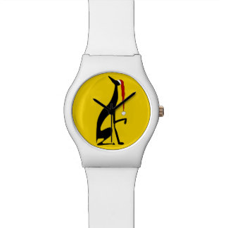 Greyhound Yellow Bold Graceful Black Dog Christmas Watch