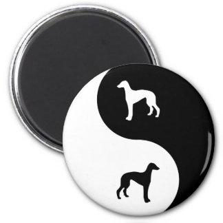 Greyhound Yin Yang Magnet
