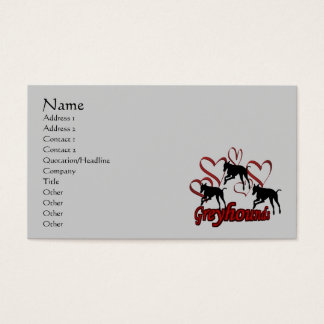 Greyhounds And Hearts Animal Business Card