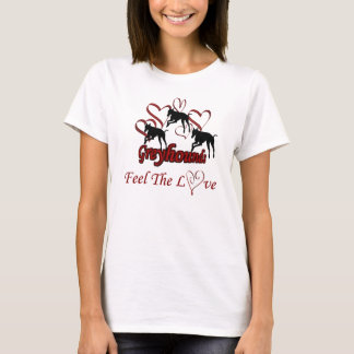 Greyhounds And Hearts Love T-Shirt