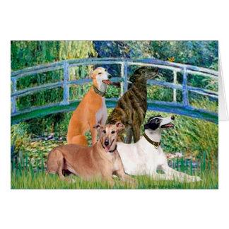 Greyhounds (four) - Bridge Card