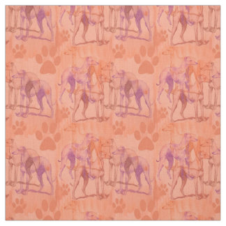 Greyhounds in the fog fabric
