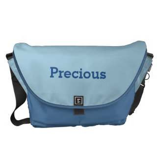 Greyish Green Blue Customizable Courier Bag