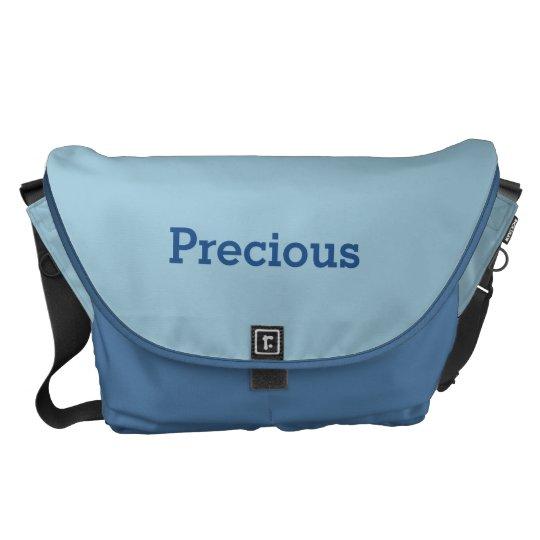 Greyish Green Blue Customizable Messenger Bag