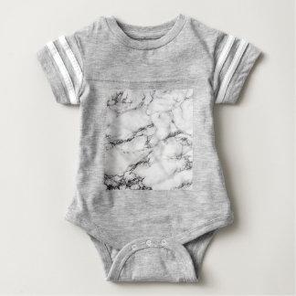 Greyish White Marble Baby Bodysuit