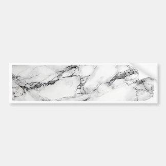 Greyish White Marble Bumper Sticker