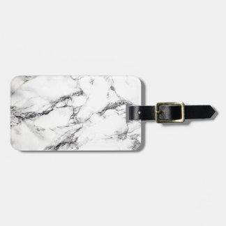 Greyish White Marble Luggage Tag