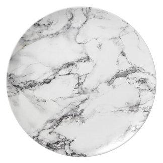 Greyish White Marble Plate