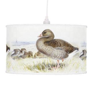 Greylag Geese Birds Animals Wildlife Hanging Lamp