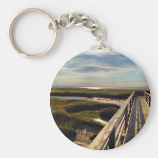 Greys Beach on Cape Cod Keychain