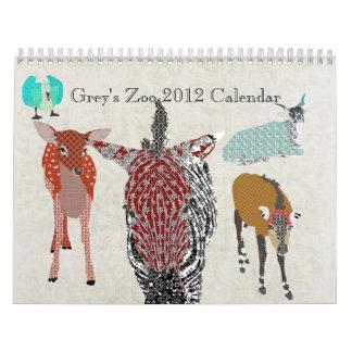 Grey's Zoo 2012 Calendar