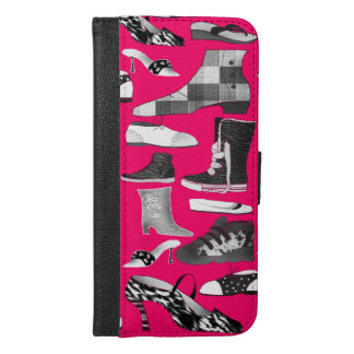 Greyscale Shoes Disorder On Neon Pink iPhone Case