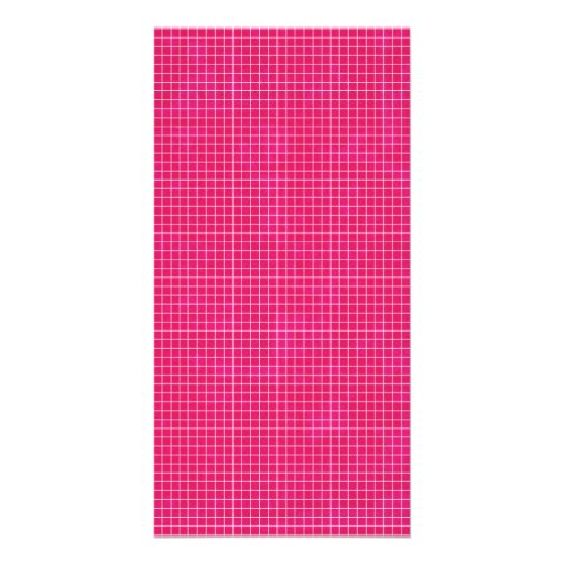 GRID12 HOT RICH CANDY PINK GRID GIRLY PATTERN TEMP PHOTO CARD TEMPLATE