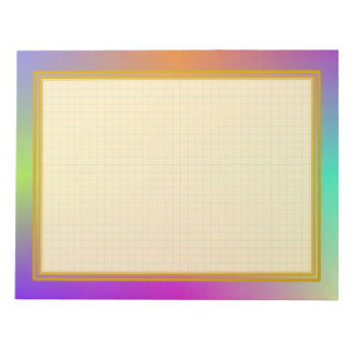 Grid Lined Colorful Metallic 8.5x11 Note Pad