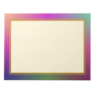 Grid Lined Purple Metallic Large Note Pads