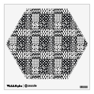 Grid of Black-and-White Geometric Patterns, 01 Wall Decal