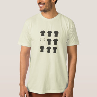 Grid of Grey-on-White-ish T-Shirt