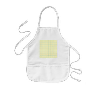 grid pattern blue line red dots kids apron