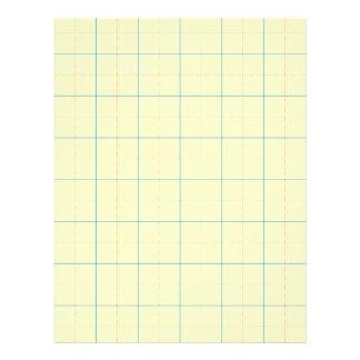 grid pattern blue line red dots letterhead