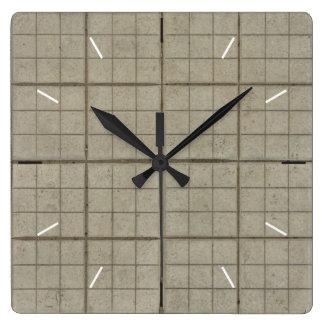 GRID TILES | industrial decor Wallclocks