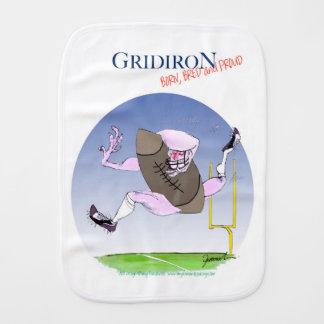 Gridiron born bred proud, tony fernandes baby burp cloths