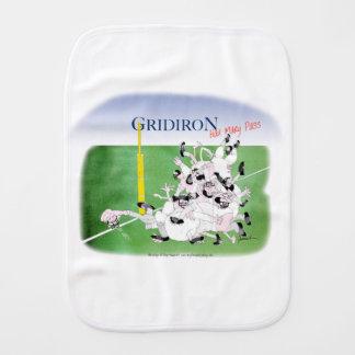 Gridiron -'hail mary pass', tony fernandes baby burp cloth