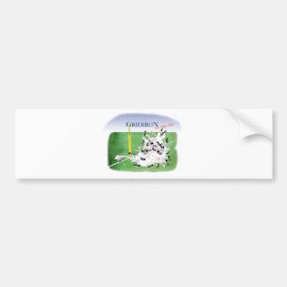 Gridiron -'hail mary pass', tony fernandes bumper sticker