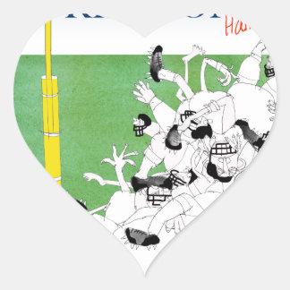 Gridiron -'hail mary pass', tony fernandes heart sticker