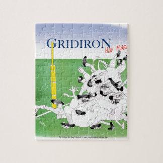 Gridiron -'hail mary pass', tony fernandes jigsaw puzzle