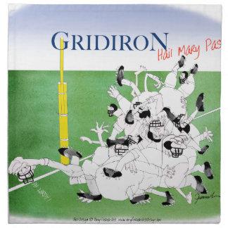 Gridiron -'hail mary pass', tony fernandes napkin