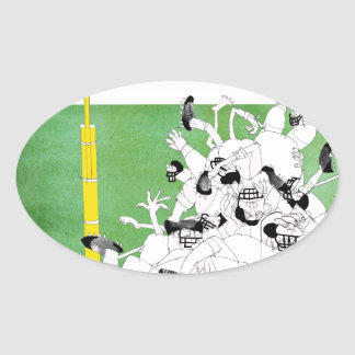 Gridiron -'hail mary pass', tony fernandes oval sticker