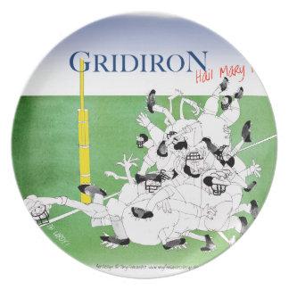 Gridiron -'hail mary pass', tony fernandes plate