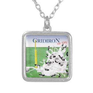Gridiron hail mary pass, tony fernandes silver plated necklace