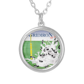 Gridiron -'hail mary pass', tony fernandes silver plated necklace