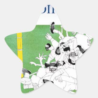 Gridiron -'hail mary pass', tony fernandes star sticker
