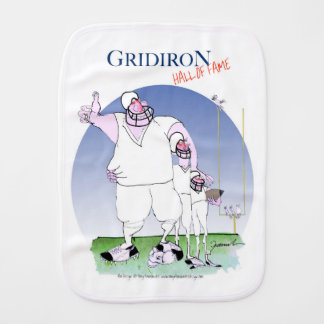 Gridiron hall of fame, tony fernandes burp cloth