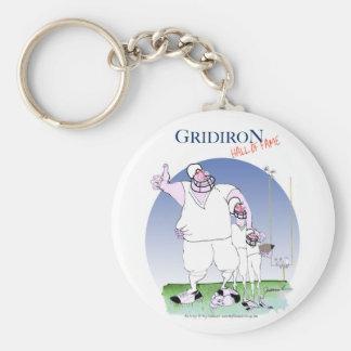 Gridiron hall of fame, tony fernandes keychain