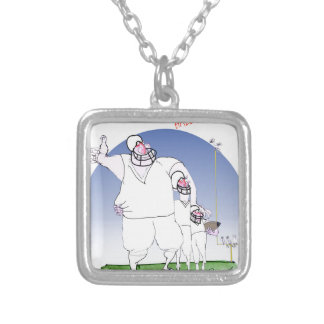 Gridiron - hall of fame, tony fernandes silver plated necklace