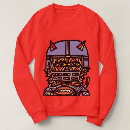"""GridIron Kat"" Women's Raglan Sweatshirt"