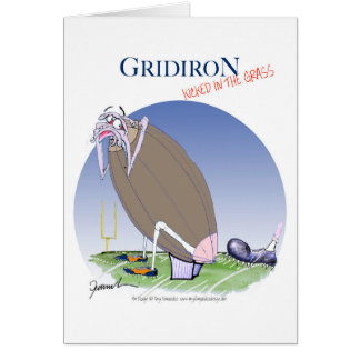 Gridiron - kicked in the grass, tony fernandes card