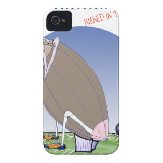 Gridiron - kicked in the grass, tony fernandes iPhone 4 Case-Mate cases