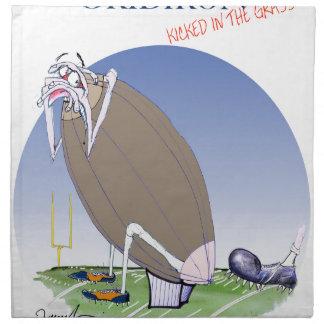 Gridiron - kicked in the grass, tony fernandes napkin