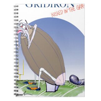 Gridiron kicked in the grass, tony fernandes notebooks
