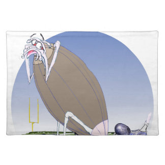 Gridiron kicked in the grass, tony fernandes placemat