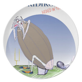 Gridiron - kicked in the grass, tony fernandes plate
