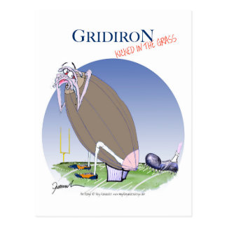 Gridiron kicked in the grass, tony fernandes postcard
