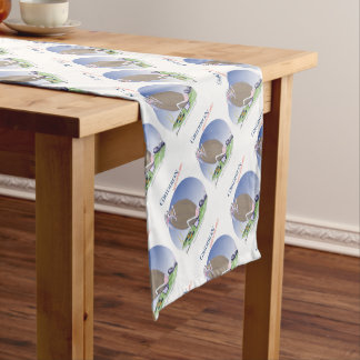 Gridiron kicked in the grass, tony fernandes short table runner